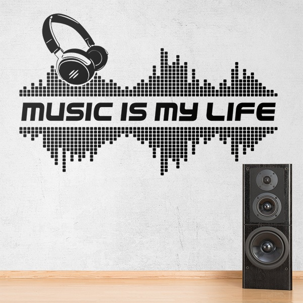 Wandtattoos: Music is my life 0