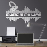 Wandtattoos: Music is my life 2
