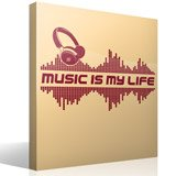 Wandtattoos: Music is my life 3