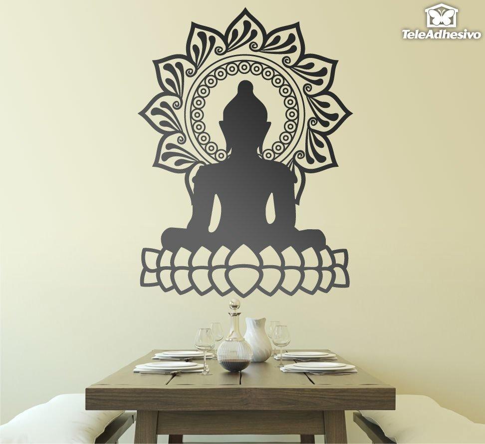 Wandtattoos: Buddha und Lotusblüte