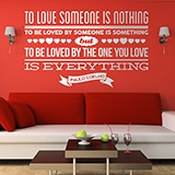 Wandtattoos: To love someone is nothing... 0