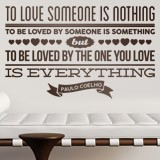 Wandtattoos: To love someone is nothing... 2