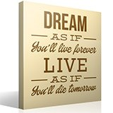 Wandtattoos: Dream as if you´ll live forever 2