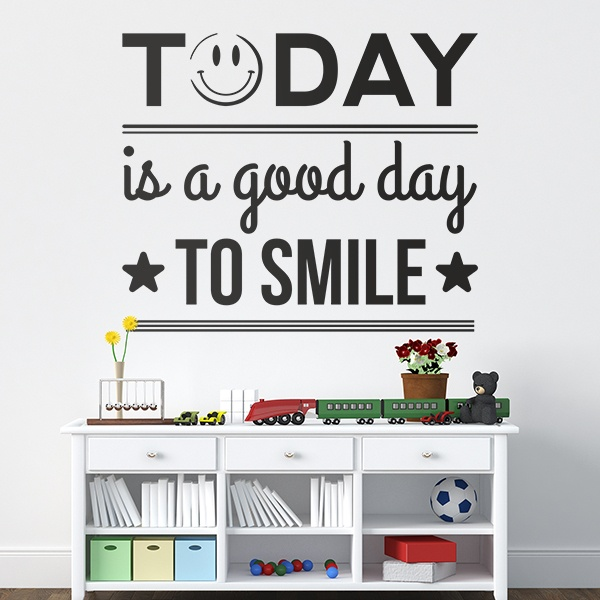 Wandtattoos: Today is a good day to smile