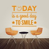 Wandtattoos: Today is a good day to smile 2
