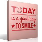 Wandtattoos: Today is a good day to smile 3