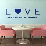 Wandtattoos: Love - live like there´s no tomorrow 2