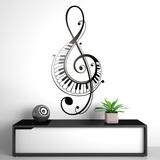 Wandtattoos: Im Violinschlüssel mit Klaviertasten 0