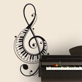 Wandtattoos: Im Violinschlüssel mit Klaviertasten 2