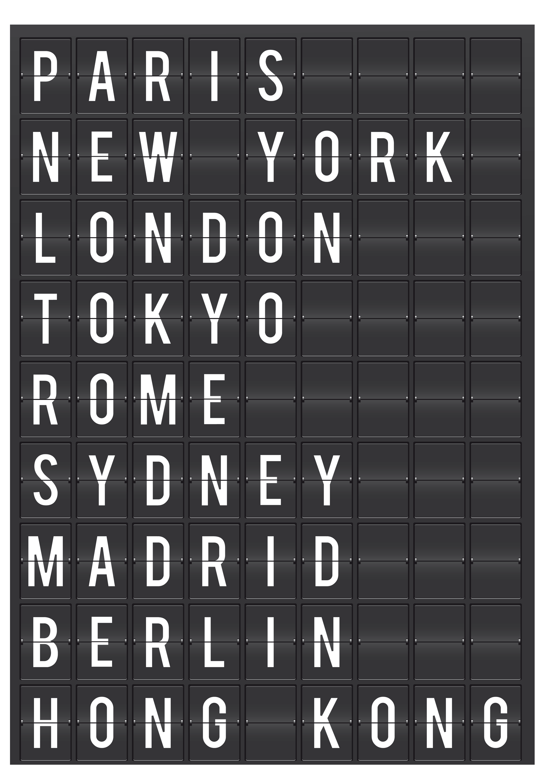 Wandtattoos: Airport Cities Tafel 0