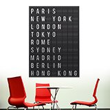 Wandtattoos: Airport Cities Tafel 3