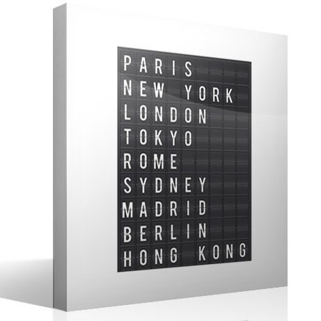 Wandtattoos: Airport Cities Tafel