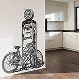 Wandtattoos: Fahrrad auf Vintage-Kraftstoffpumpe 2