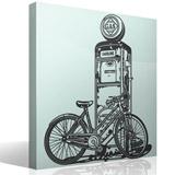 Wandtattoos: Fahrrad auf Vintage-Kraftstoffpumpe 3