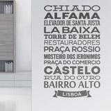 Wandtattoos: Typografische Lisboa 1