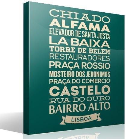 Wandtattoos: Typografische Lisboa