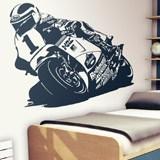 Wandtattoos: Racing Motorrad 2