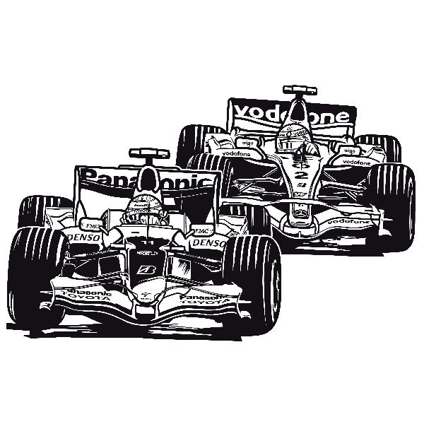 Wandtattoos: Formel-1-Grand-Prix