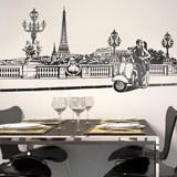Wandtattoos: Romantische Szene in Paris 2