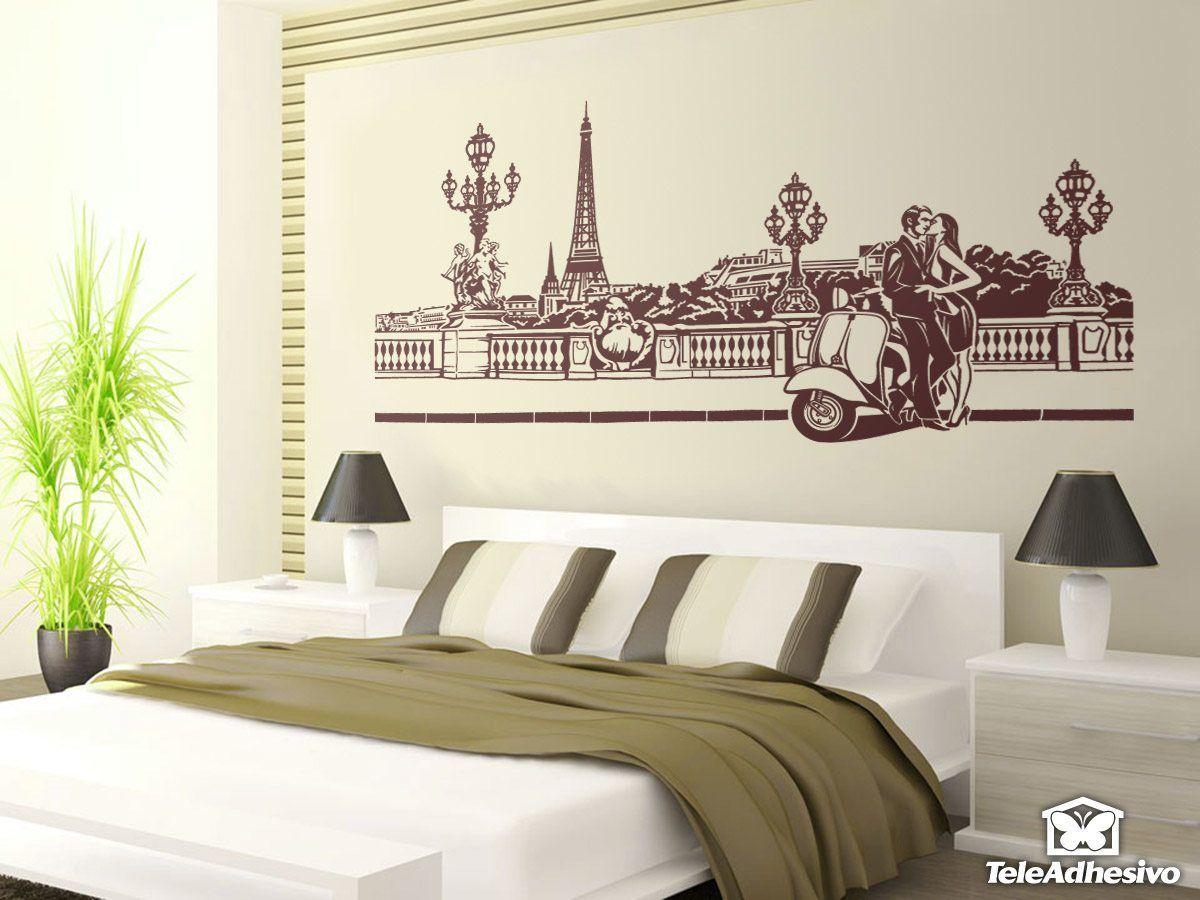 Wandtattoos: Romantische Szene in Paris