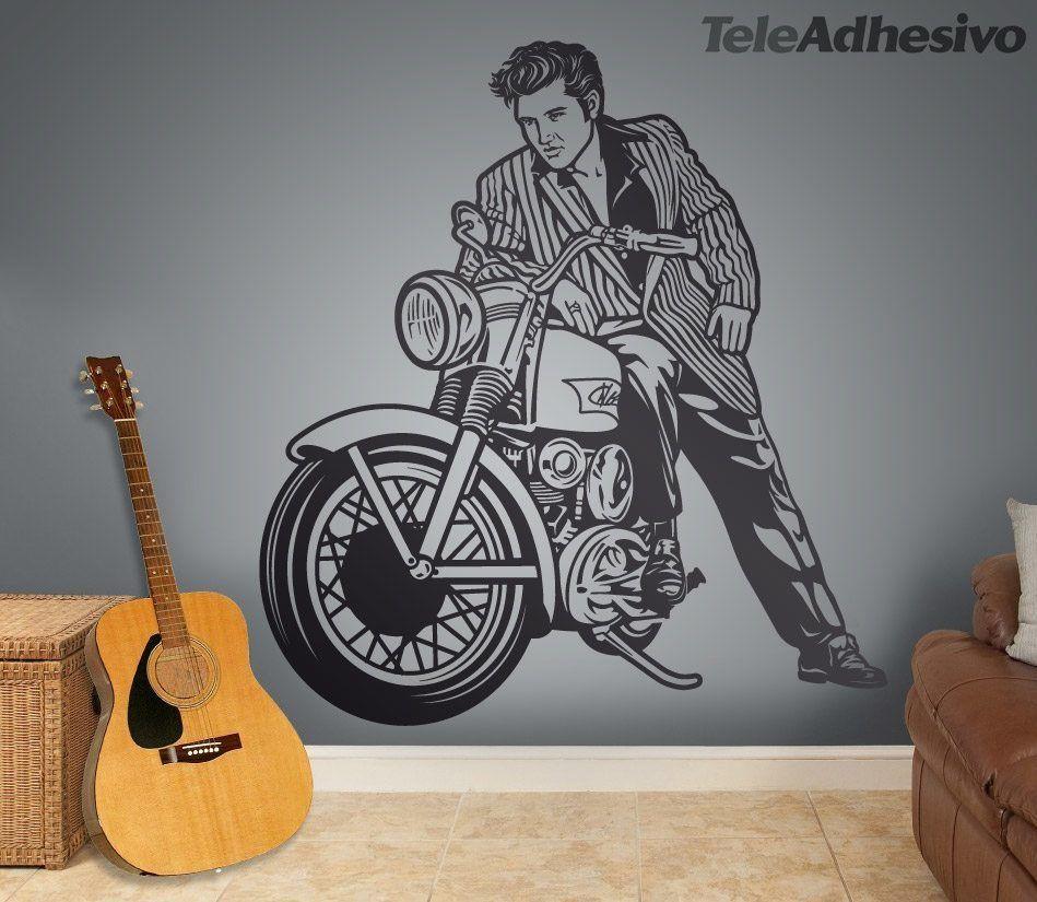 Wandtattoos: Elvis Presley und Motorrad