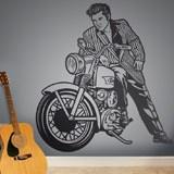 Wandtattoos: Elvis Presley und Motorrad 2