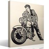 Wandtattoos: Elvis Presley und Motorrad 3