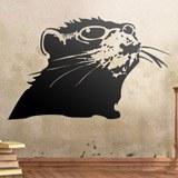 Wandtattoos: Banksy Ratte 2