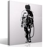 Wandtattoos: Banksy Graffiti Astronaut 3