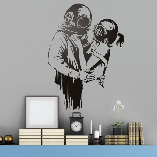 wandtattoos think tank von banksy. Black Bedroom Furniture Sets. Home Design Ideas
