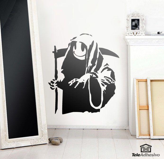 Wandtattoos: Banksy Happy Grim Reaper
