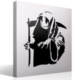 Wandtattoos: Banksy Happy Grim Reaper  2
