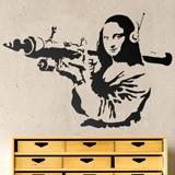 Wandtattoos: Gioconda Terrorist Banksy 1
