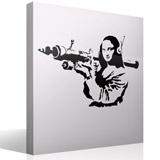 Wandtattoos: Gioconda Terrorist Banksy 2