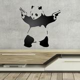 Wandtattoos: Banksy Panda bewaffnet 0