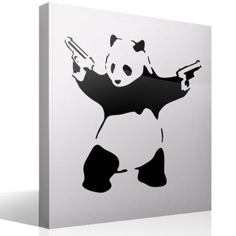 Wandtattoos: Banksy Panda bewaffnet