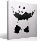 Wandtattoos: Banksy Panda bewaffnet 3