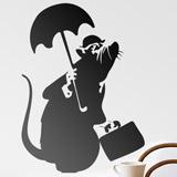 Wandtattoos: Ratte mit Regenschirm von Banksy 2