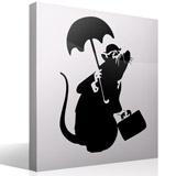 Wandtattoos: Ratte mit Regenschirm von Banksy 3