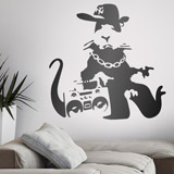 Wandtattoos: Banksy NYC Gangster Rat  2