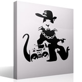 Wandtattoos: Banksy NYC Gangster Rat  3