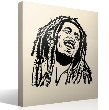 Wandtattoos: Bob Marley