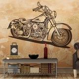 Wandtattoos: Harley Davidson Softail Classic 0