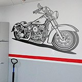 Wandtattoos: Harley Davidson Softail Classic 1
