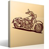 Wandtattoos: Harley Davidson Softail Classic 2