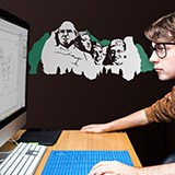 Wandtattoos: Mount Rushmore Geek 2 Farben 2