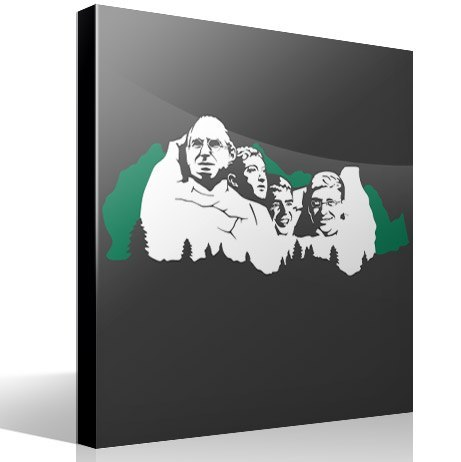 Wandtattoos: Mount Rushmore Geek 2 Farben