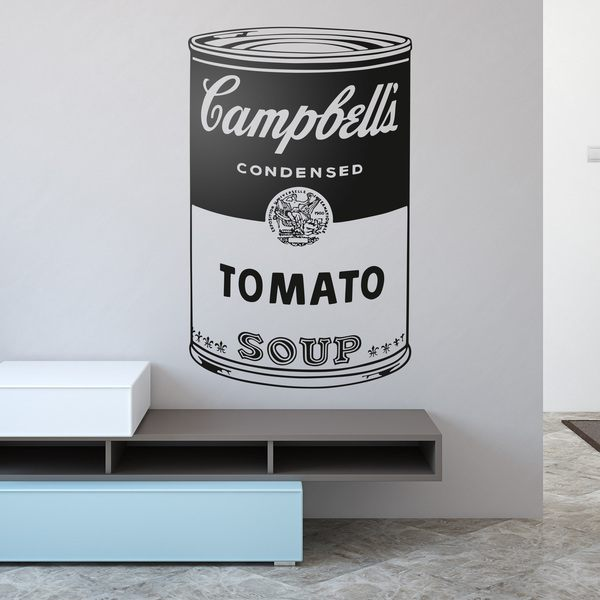 Wandtattoos: Andy Warhol Campbell