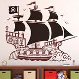 Kinderzimmer Wandtattoo: Großes Piratenschiff 1
