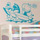 Kinderzimmer Wandtattoo: Hippo und Boot 2